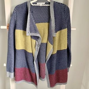 Cabi Knit Multicolor Striped Cardigan